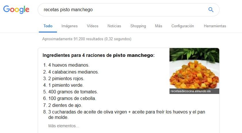 serp-google-recetas-pisto-machego